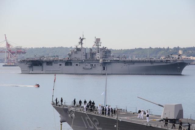 USS Bonhomme Richard, USS Sampson in Seattle for Seafair